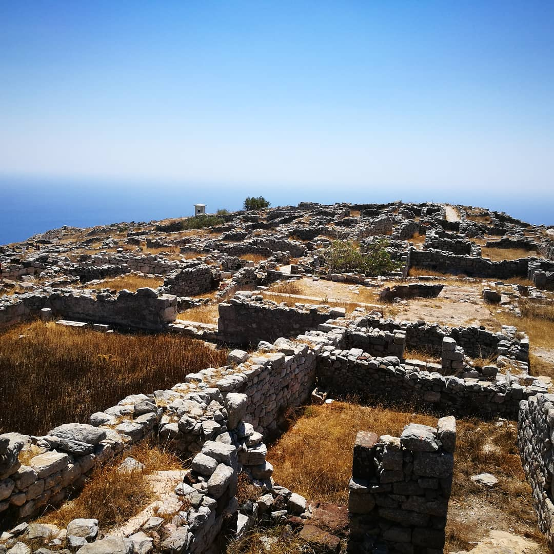 Ancient Thera ruins in Santorini