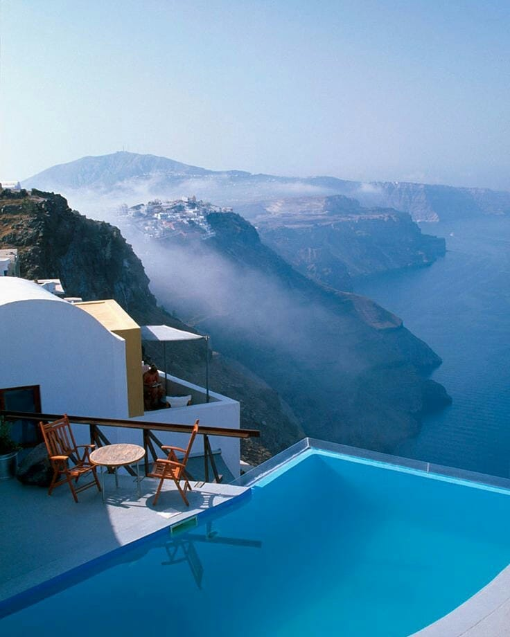 Infinity pool at Chromata hotel in Santorini