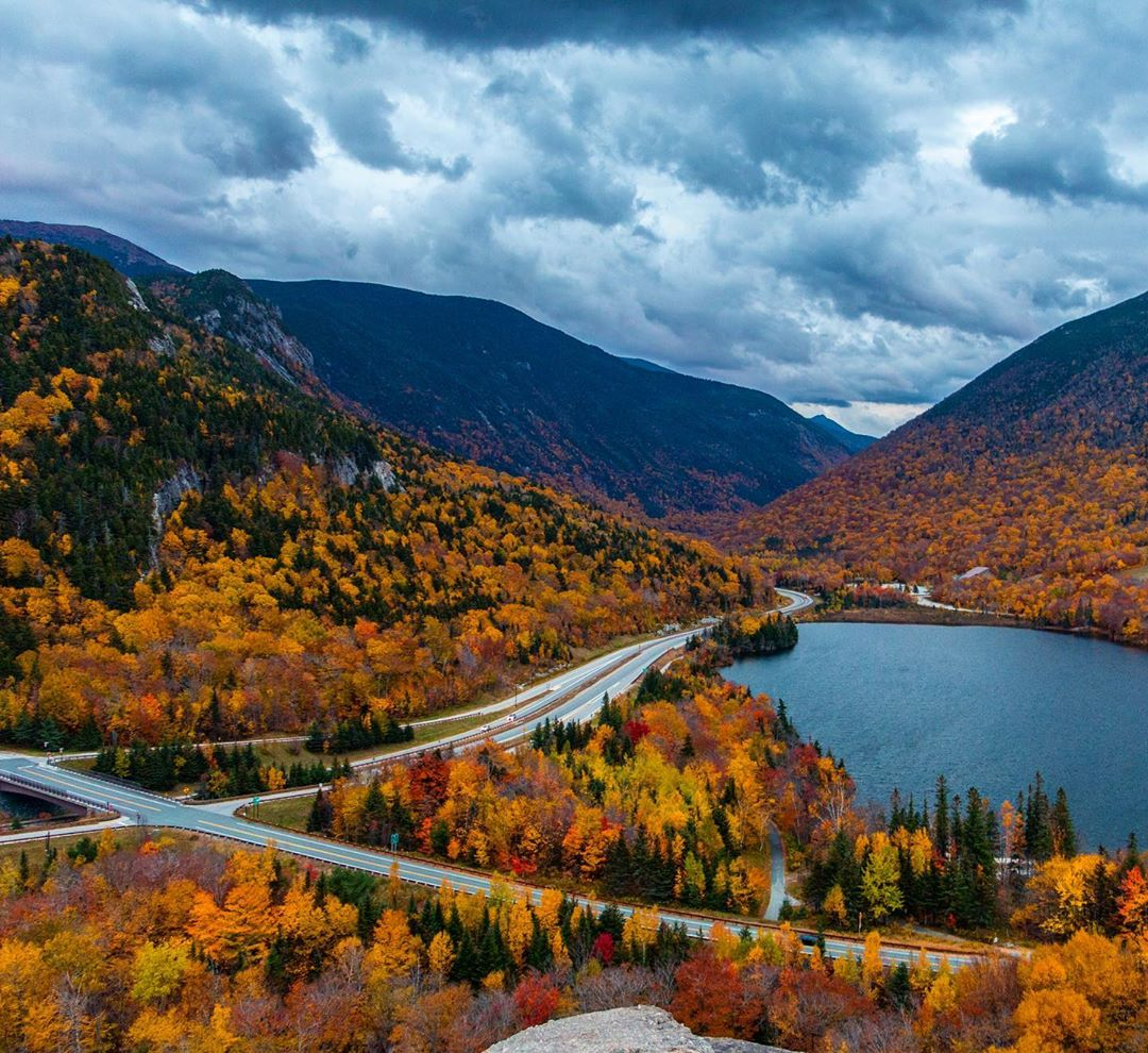 Franconia Notch in New Hampshire